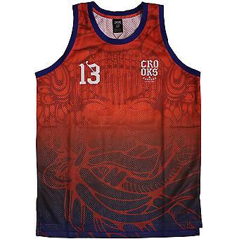 Crooks & Castles Trece Basketball Jersey Tank Top True Red