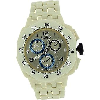 Zaza London White Chrono Effect Ladies Gents Plastic  Bracelet Strap WatchPL342