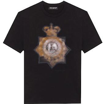 Neil Barrett grafische print T-shirt zwart