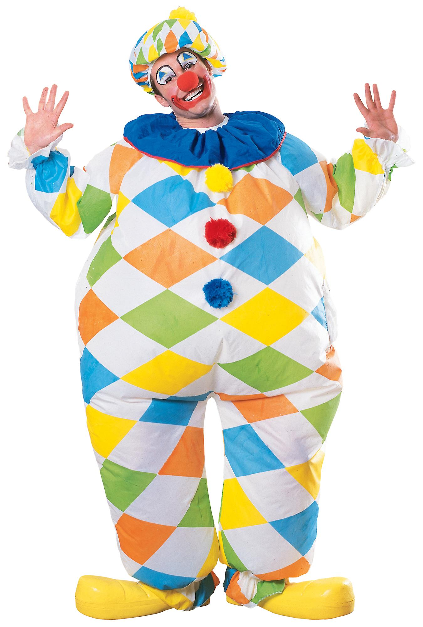 Inflatable Clown Circus Funny Men Costume One Size