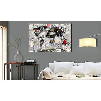 Painting - Map: Inspired Banksy inspiration90x60