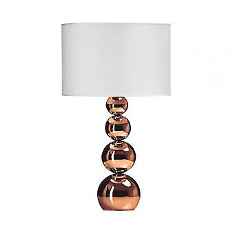 Premier Home cameo Touch lamp, stof, koper
