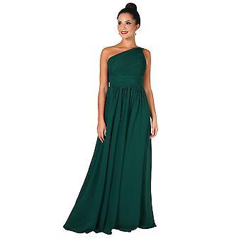 KRISP Frauen Maxi Kleid formal ein Off Schulter Kleid Chiffon Abend Hochzeit Party 8-20