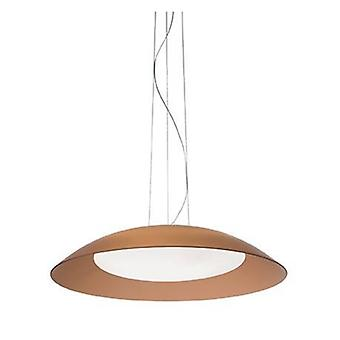 3 Light Dome Ceiling Pendant Brown