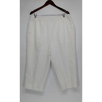 Denim & Co. kvinder ' s bukser Pull-on foret Capri hvid A279017
