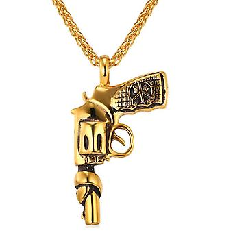 Necklace, pistol with tied pipe