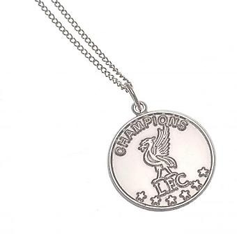 Liverpool Champions Of Europe Sterling Silver Pendant & Chain