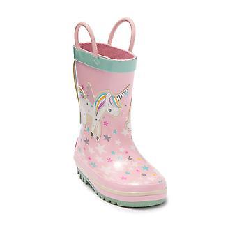 Kids Northside Girls Splash Rubber Mid-Calf Pull On Rain Boots