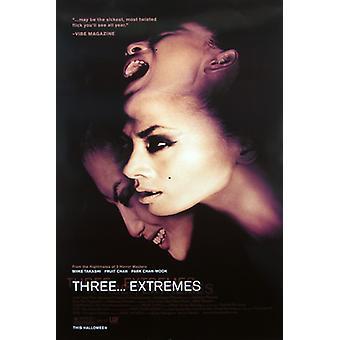 Tre ytterligheter (enkelsidig regelbunden) original Cinema affisch