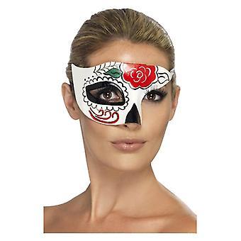 Dzień Martwego Półoka Maska Biały Halloween Akcesoria