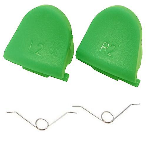 L2 r2 trigger button & spring set for sony ps4 controller - green