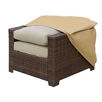 Cubierta de polvo de tela para sillas al aire libre, grande, marrón claro