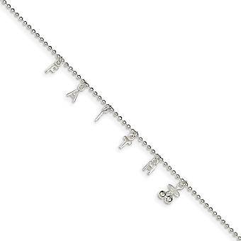 925 Sterling Silver With 1 Inchext. Anklet 10 Inch Jewelry Gifts for Women - 2.8 Grams