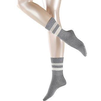 Esprit Tennis Stripe 2 paria sukkia-vaaleanharmaa
