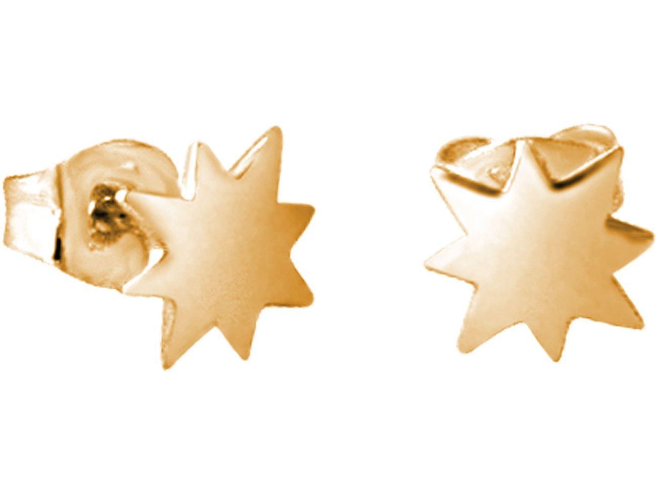 Konstellation Ohrstecker Nordstern Polarstern 925 Silber, vergoldet oder rose