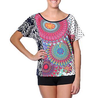 Smash Women's Geometric Frida Tshirt Top