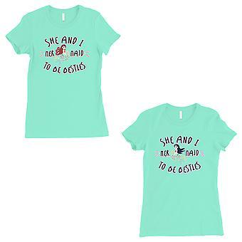 Mermaid To Be Besties BFF Gift Matching Shirts Womens Mint T-Shirt