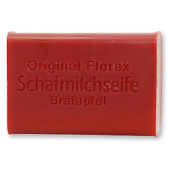 Florex sheep's milk soap - roast apple - delicious scent of the roast apple reminiscent of the Christmas season 100 g