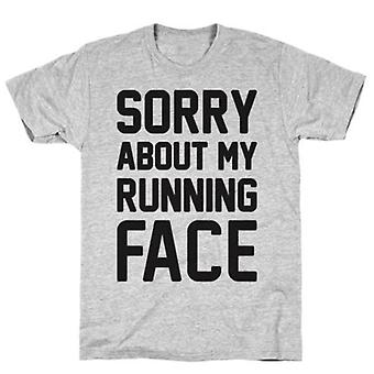 Sorry about my running face grey t-shirt