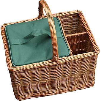 Eventos cesta con sauce verde con el refrigerador