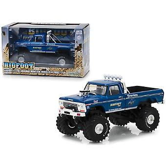 1974 Ford F-250 Monster Truck Bigfoot #1 The Original Monster Truck Blue 1/43 Diecast Model Car By Greenlight
