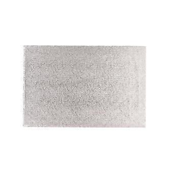 """Culpitt 12 """"X 10"""" (304 X 254mm) Cake Board oblong silver ormbunke-singel"""