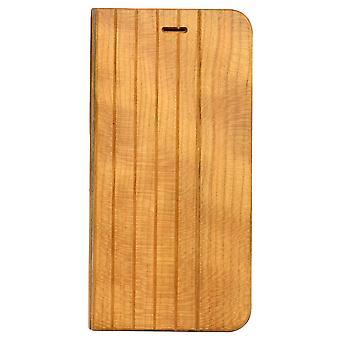 Til iPhone 8 PLUS, 7 PLUS sag, kirsebærplanker holdbart beskyttelsesdæksel i træ