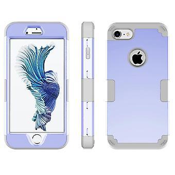 For iPhone SE(2020), 8 og 7 tilfelle, stilig trippel lag rustning holdbar beskyttende deksel, grå