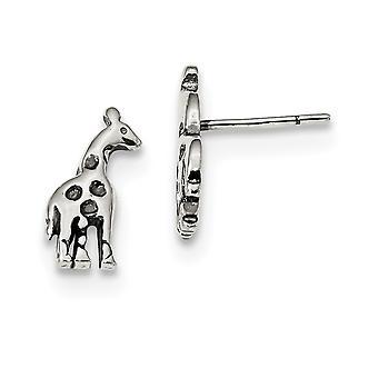 925 Sterling Silver Giraffe Post Örhängen Mäter 13.3x6mm breda smycken gåvor för kvinnor - 1.3 Gram