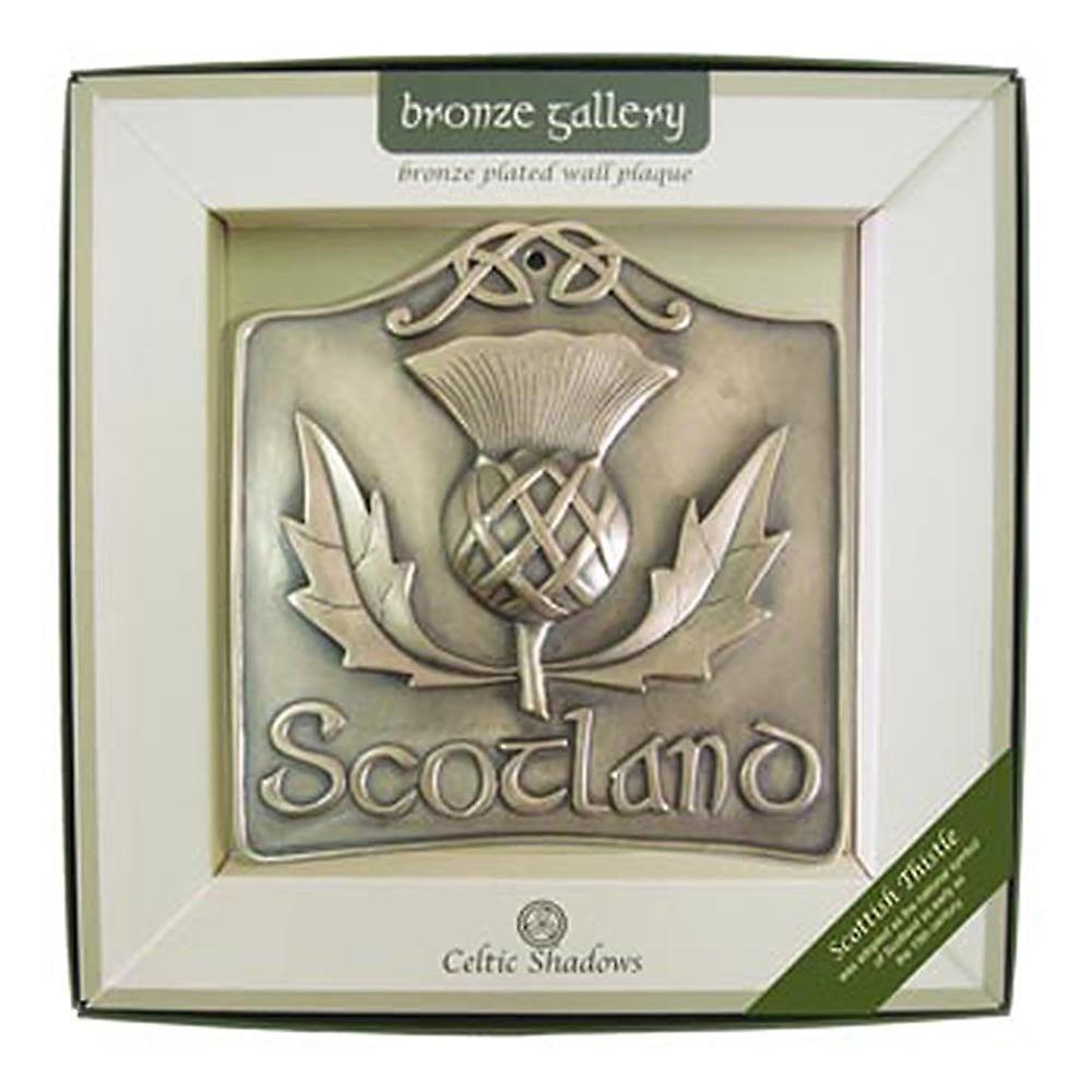 Islandcraft Scottish Thistle Bronze Plated Wall Plaque
