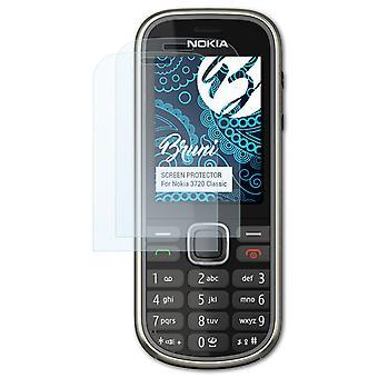 Bruni 2x Skärmskydd kompatibel med Nokia 3720 Classic Protective Film