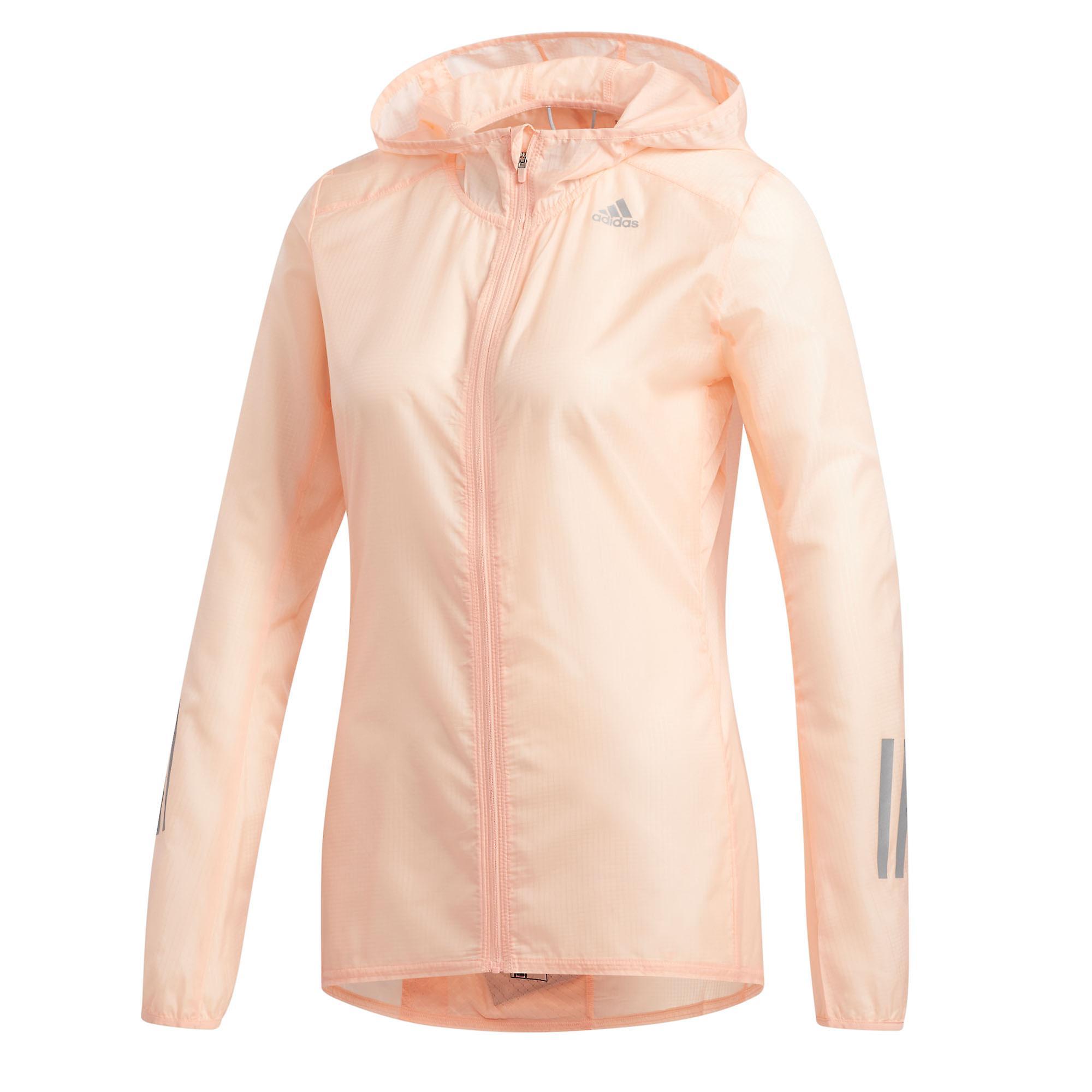adidas Own The Run Womens Running Fitness Training Jacket Pink