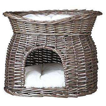 Trixie Wicker Cave with Bed on Top (Cats , Bedding , Beds)