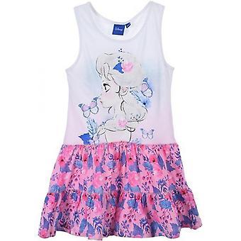 Mädchen SE1422 Disney gefroren Sommer Baumwolle ärmelloses Kleid