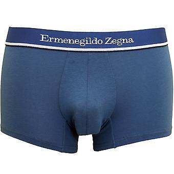 Ermenegildo Zegna Stretch Cotton Boxer Trunk, Denim Blue