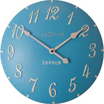 Nextime-vægur – Ø 34 cm-Polyresin – blå – ' London arabisk '