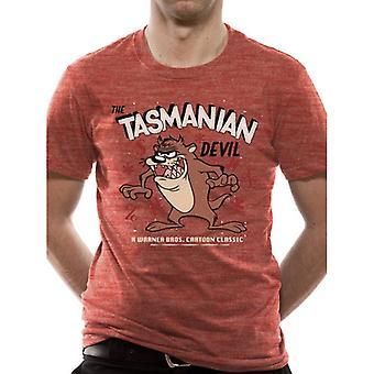 Looney Tunes Pánské Tasmanian Devil Tričko