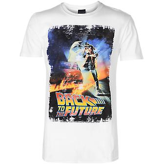 Character Mens Back to the Future T Shirt Crew Neck Tee Top Short Sleeve