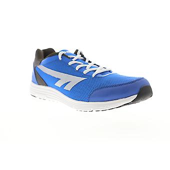 Hi-Tec Pajo  Mens Blue Mesh Lace Up Athletic Running Shoes