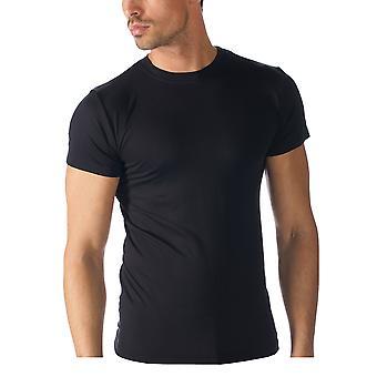 Mey 42503-123 mannen Software Top korte mouw zwart effen kleur