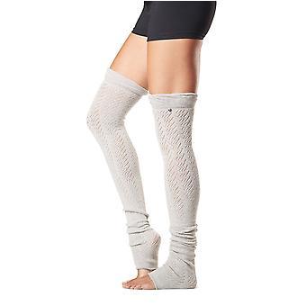 Toesox Farrah Leg Warmers Thigh High Muscles Peak Performance - Platinum