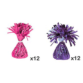 Amscan Foil Tassels Balloon Weights (Pack Of 12)