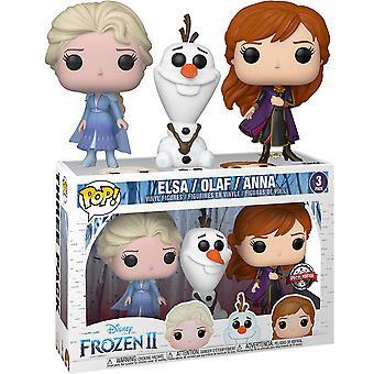 Frozen II Elsa, Olaf & Anna US Excl Pop! Vinyl 3-Pack