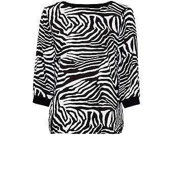 Bianca Zebra Print Top