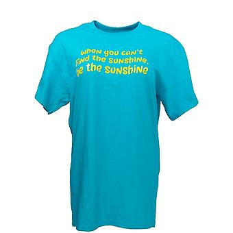 Gildan Women's Top When You Can't Find The Sunshine Be The Sunshine Blue