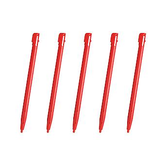 5 Red Touch Stylus Pen For Nintendo DSi NDSi Rigid Plastic New