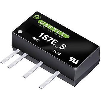 Gaptec 1S7E_0515D1.5UP DC/DC converter (print) 5 V DC 15 V DC, -15 V DC 68 mA 1 W No. uitgangen: 2 x