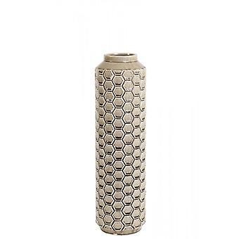 Ljus & Levande Vas Deco 16.5x59cm Taverne Keramik Ljusbrun