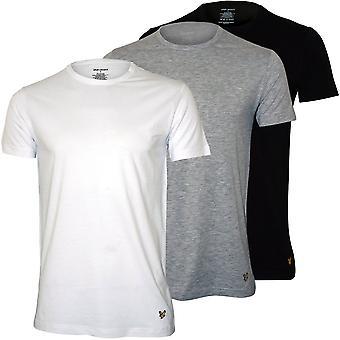 Lyle & Scott 3-Pack Crew-Neck Lounge T-shirts, Zwart/Wit/Grijs