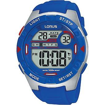 Lorus R2301NX-9 Cyfrowy niebieski wielofunkcyjny zegarek na rękę